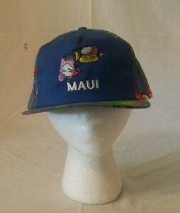 e2b7527850f5b VINTAGE 1980s Maui Hawaii Hat Cap Leather Strap Back Impressions ...