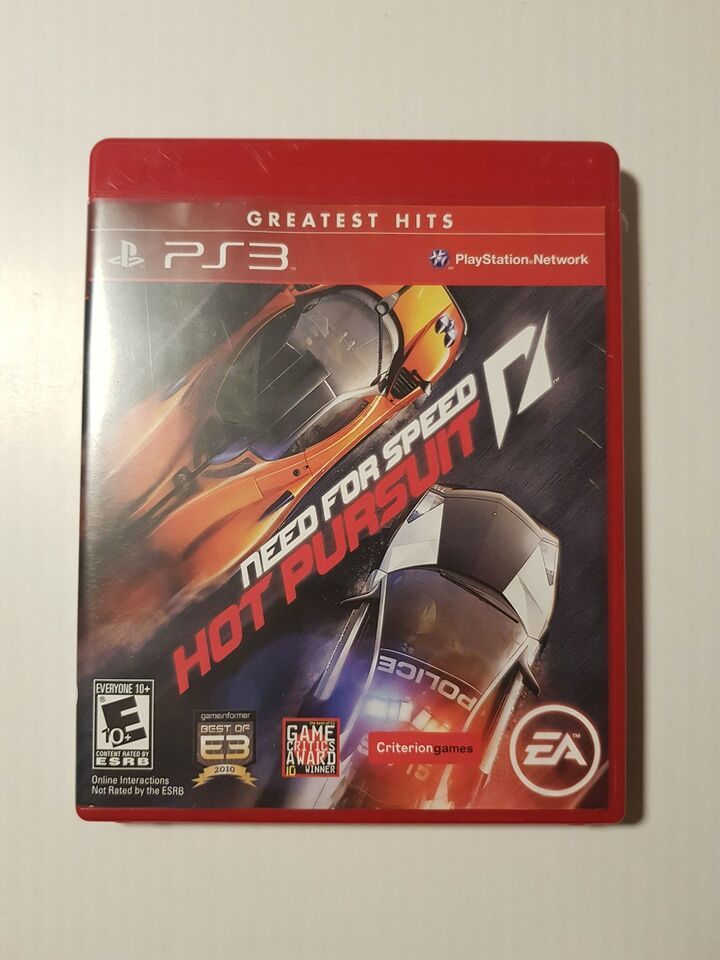 Need for speed, hot pursuit, PS3