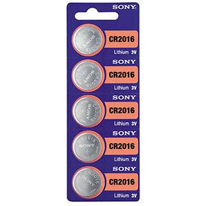 5-Pilas-SONY-Litio-CR2016-ENVIO-GRATUITO-3-voltios-Lithium-Batteries