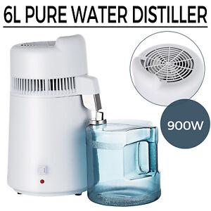 900W 6L Pure Water Distiller Stainless Steel Interior Distilled Filter Machine