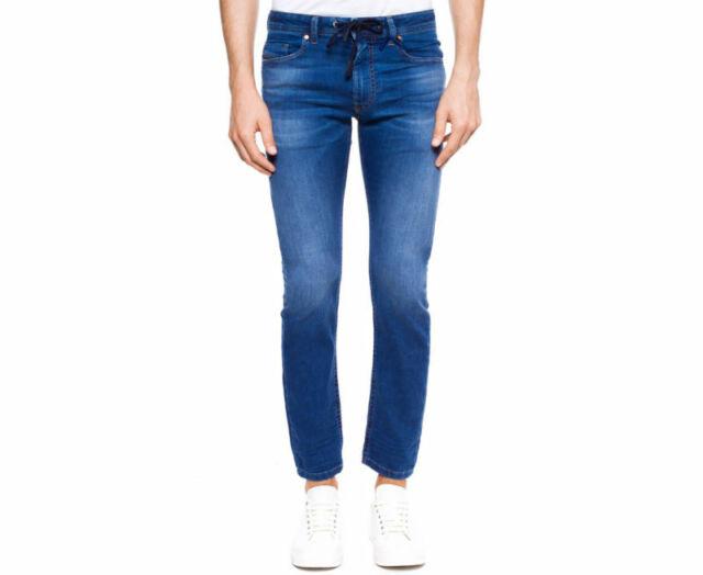 Diesel KROOLEY NE 0683R W30 Mens Denim Sweat Jogg Jeans Regular Fit Blue New