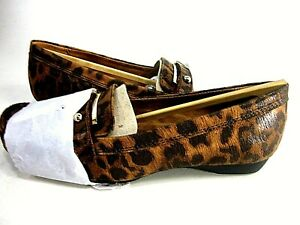 Gisella Loafer Flat Black/Brown Cheetah