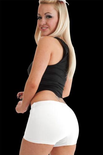 Da Donna Con Elastico Neon Lycra Danza Palestra party Hot Pants Pantaloncini Slip *