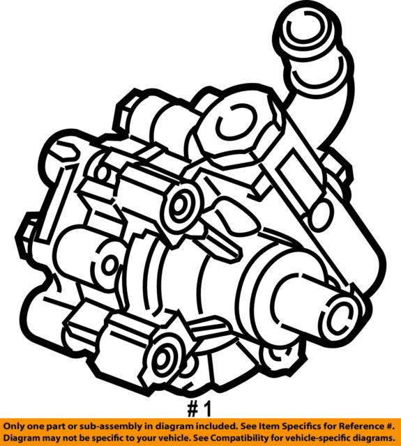 Buick Gm Oem 11 12 Regal Power Steering Pump 13309277 For Sale