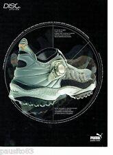 PUBLICITE ADVERTISING 116  2001  Puma  les baskets disc  system