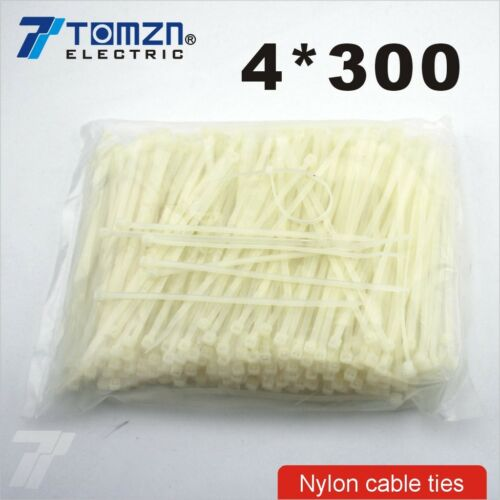 250pcs 4mm*300mm Nylon cable ties 4*300