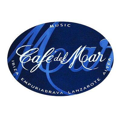 OFFICIAL Café Del Mar Ibiza Club Sticker Blue Logo Chillout Music Sunset