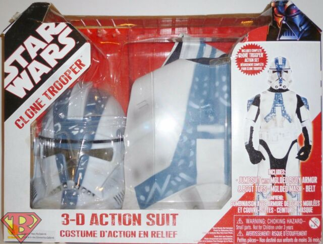 b556b0a642151 Star Wars Clone Trooper 3 D Action Suit Set Size 4 to 6