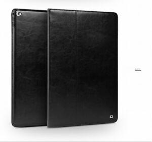 QIALINO-Business-Echt-Leder-Schutz-SmartCover-Klapp-Case-f-iPad-Pro-12-9-Schwarz