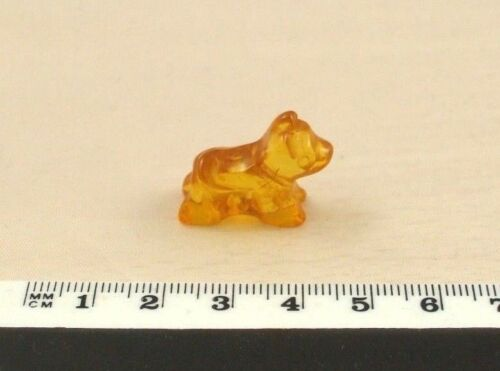 Collectable Small Light Cognac Colour Baltic Amber Terrier Dog Carving Ornament