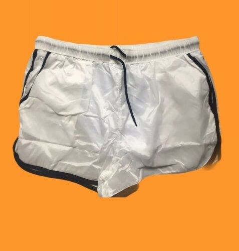 Mens  Size Large Glanz Wet Look Shorts Transparent Clear Pride New Sprint