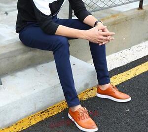 84022391462 Mens Casual Cotton Linen Blend Slim fit Straight Long Trousers Pants ...
