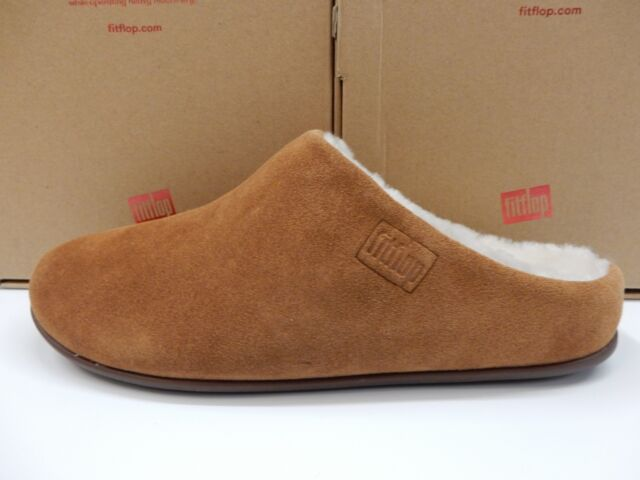 cdabc806d6213 FitFlop Womens Clara Shearling Suede Moccasin Slippers Tumbled Tan Size 10