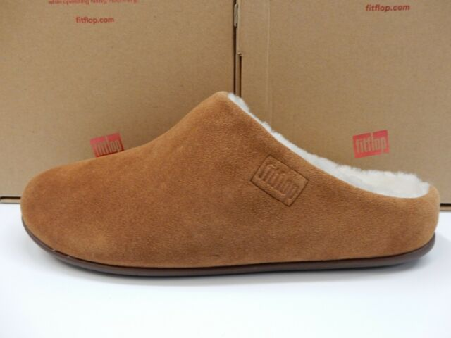 Chrissie 7 Slippers Suede Size Tan Shearling Womens Fitflop Tumbled pqzVSMUG