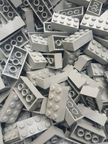 LEGO 50 x LIGHT GREY BRICKS 2 x 4 No 3001 HARRY POTTER,CITY, STAR WARS, FRIEND