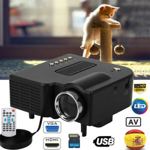 Mini 1080P HD Proyector Casa Home Cinema VGA/USB/SD/AV/