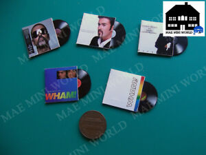 Wham-amp-George-Michael-custom-5-Miniature-music-record-vintage-Scale-1-12