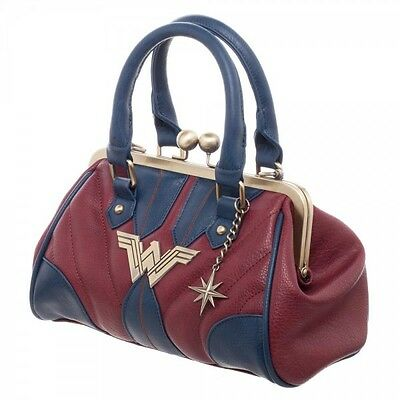 DC COMICS WONDER WOMAN COSTUME INSPIRED HANDBAG SUIT UP LOGO DOME SATCHEL PURSE