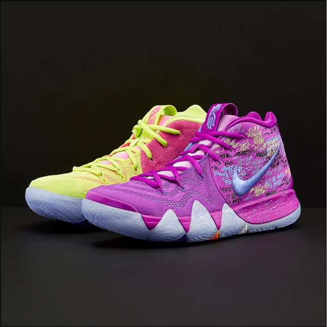 buy online b6f40 55d7d Clean Nike Kyrie 4 Confetti Multicolor Basketball Shoes Aa2897 900 Size 5