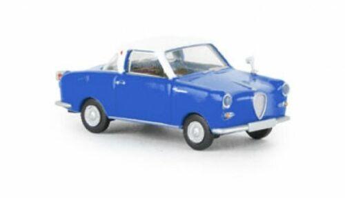 1//87 Brekina Goggomobil Coupe signalblau//weiß 27858