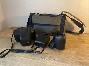 Minolta Kamera Dynax 700i mit Sigma Auto Fokus und Minolta Objektiv AF Lens