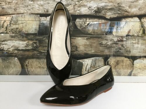 Bimba y Lola Femmes Chaussures Basses Ballerine Ballerines Noir Glanzlack NEUF