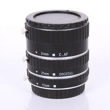 Silver Metal Auto Focus Macro Automatic Extension Tube for Kenko Canon EF-S Lens