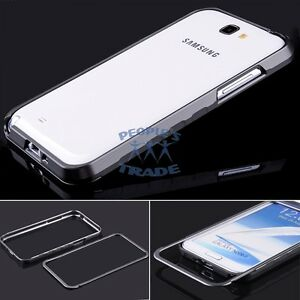 detailed look ac0f5 84d58 Details about Grey Metal Aluminum Frame Bumper Case Cover For Samsung  Galaxy Note 2 II N7100