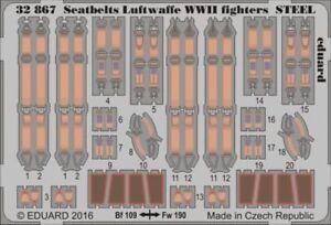Eduard-1-32-Seatbelts-Luftwaffe-WWII-Fighters-STEEL-32867