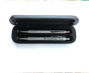 Premium-Schreibset-2-x-Metall-Kugelschreiber-mit-Diamant-Gravur-im-Holzetui