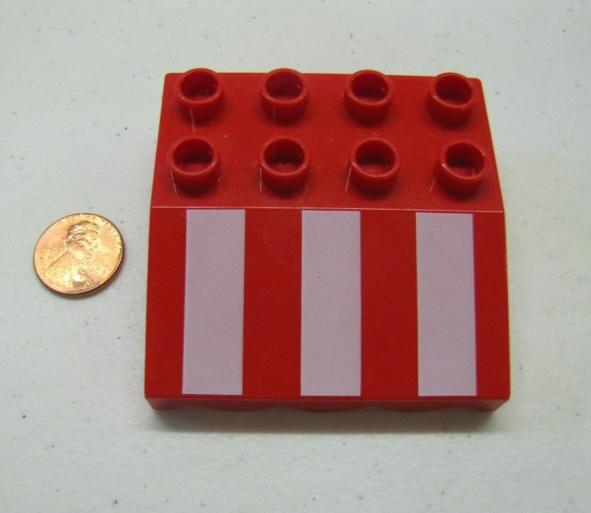 Lego Duplo PURPLE YELLOW SHINGLE ROOF AWNING Overhang House Block Brick Piece