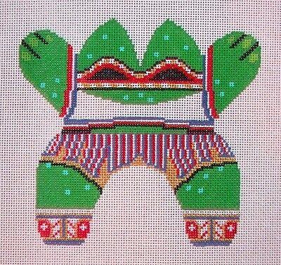 Fabulous Jg Squiggee 3D Bean Bag Frog W Embellishment Hp Handpainted Needlepoint Canvas Ebay Frankydiablos Diy Chair Ideas Frankydiabloscom