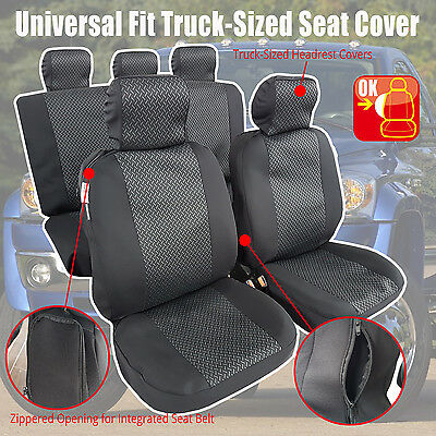 Swell Universal Truck Size Airbag Car Seat Cover Full Set Fit Tundra Silverado Ram 611801529661 Ebay Alphanode Cool Chair Designs And Ideas Alphanodeonline