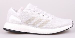 664a264d296ad Adidas Men Pure Boost Training Shoes White Gray Running Sneakers ...