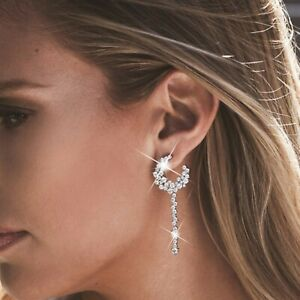 18k-white-gold-gf-made-with-SWAROVSKI-crystal-stud-earrings-925-silver-dangle