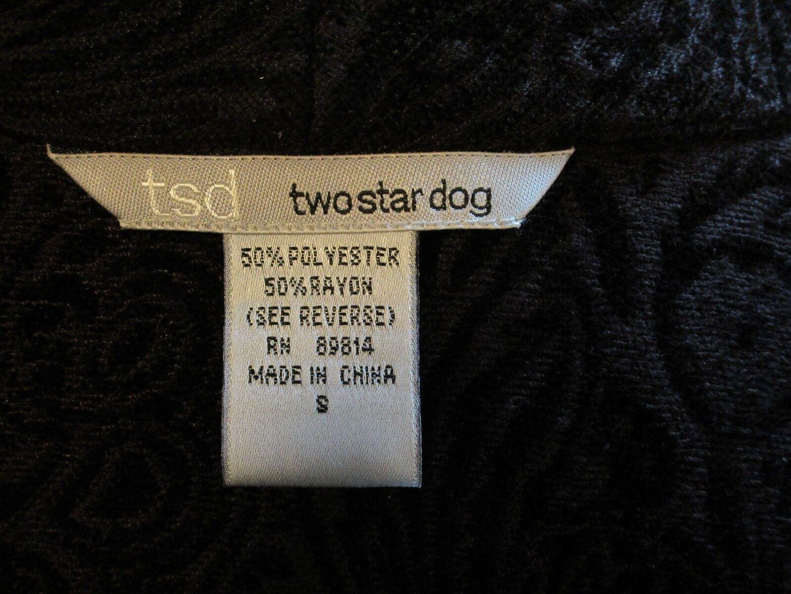 Two Star Dog Dog Dog TSD Women's Small Brown Blazer d4e54c