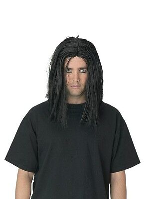 Mens Straight Black Wig Gothic Hair Goth Costume Hairstyle Greasy Messy EMO Punk  sc 1 st  eBay & The Grudge Halloween Costume collection on eBay!