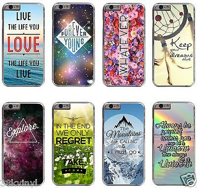 Life Quote Inspirational Love Saying Phrase Hipster Typography Case For iPhone