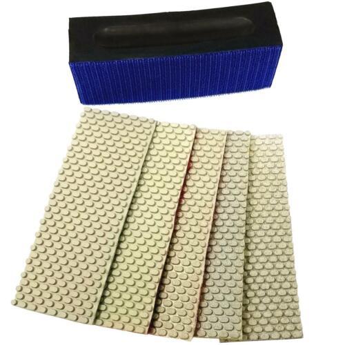 5 Pads 1 Backing Pad Set Stadea Diamond Hand Polishing Pads Glass Marble Stone