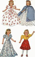 Vintage Doll Clothes PATTERN 1089 for 13.5 in Little Lady Dolls by Effanbee