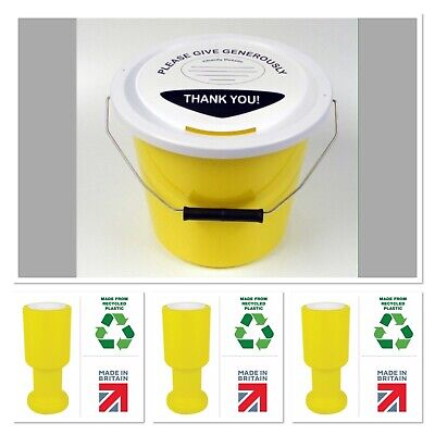 Eco Charity Fundraising Money Donor Collection Boxes In RED  Pack Of 10