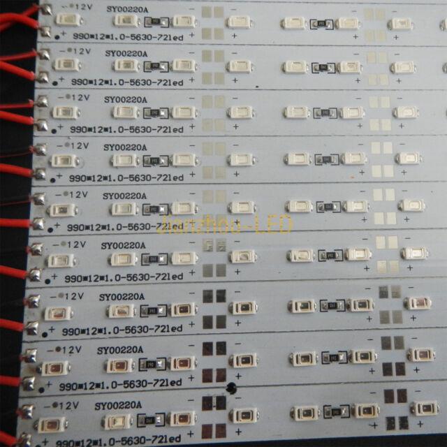 5M 10PCS 50cm 5630 Blue LED 36LEDs Rigid Hard Light Bar Strip Super Bright 12V