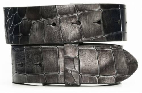 Leder Gürtel Wechselgürtel Krokoprägung Krokodilprägung Folkestone 4cm Breite