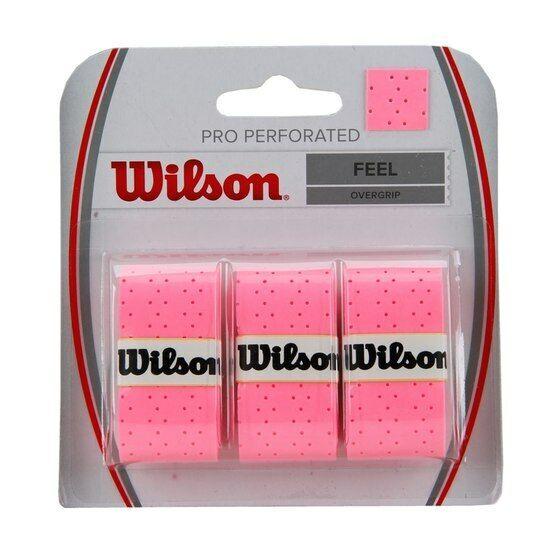 Wilson Pro Perforated Feel OverGrips Tennis Badminton Racquet OverGrip Grips