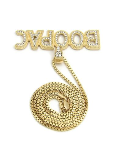 """ICED OUT HIP HOP Lil Boosie BOOMPAC PENDANT 24/"""" BOX CUBAN ROPE CHAIN NECKLACE"""