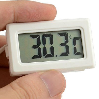 -50~70℃ LCD Panel Digital Thermometer Temperature Meter with Probe Sensor White