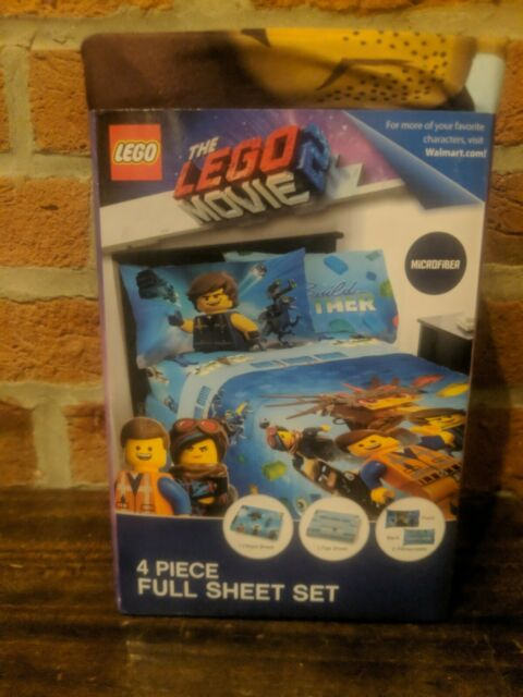 LEGO Movie 2 Build Together Premium Bedding TWIN or FULL Sheet Set