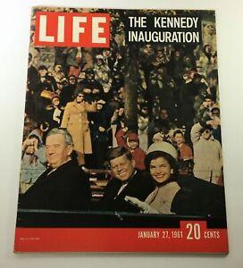 VTG Life Magazine January 27 1961 John F. Kennedy & Jackie Kennedy, Newsstand