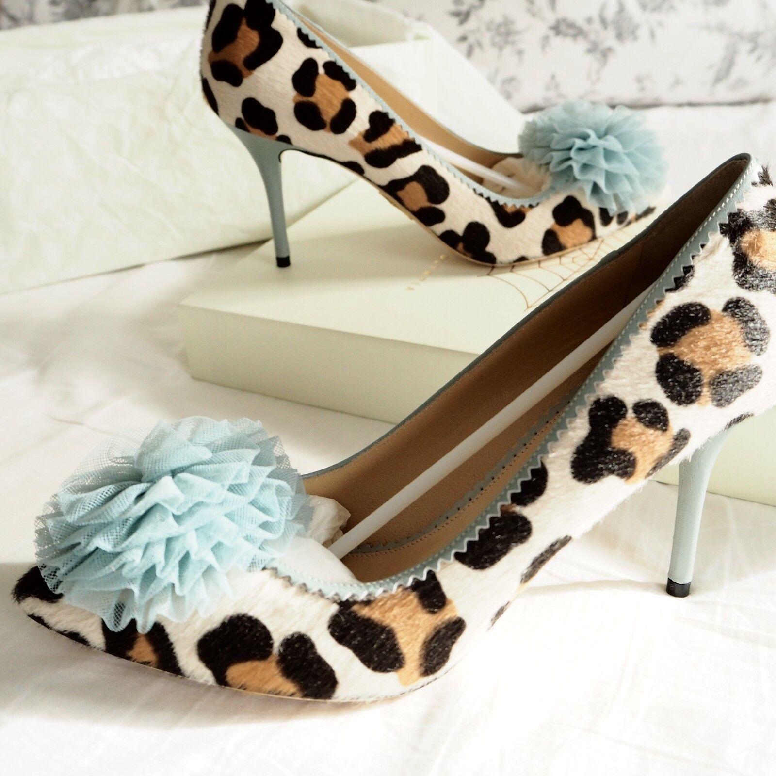 Charlotte Charlotte Charlotte Olympia Wedding Leopard Print Desiree Heel schuhe Größe 36.5 UK3.5 BNIB 110264