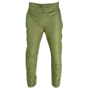 Genuine-Swedish-army-pants-insulated-OD-green-Thermal-trousers-cold-weather-NEW